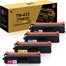 ONLYU Compatible Brother TN431 TN-431 TN433 TN-433 Toner Cartridge for Brother HL-L8260CDW HL-L8360CDW HL-L8360CDWT HL-L9310CDW MFC-L8900CDW MFC-L8610CDW MFC-L9570CDW - 4Pack