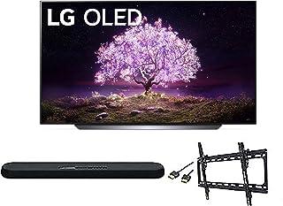 LG OLED65C1PUB C1 65 inch OLED 4K Smart OLED TV w/AI ThinQ Bundle with Yamaha YAS109 Soundbar, Universal Wall Mount, HDMI ...