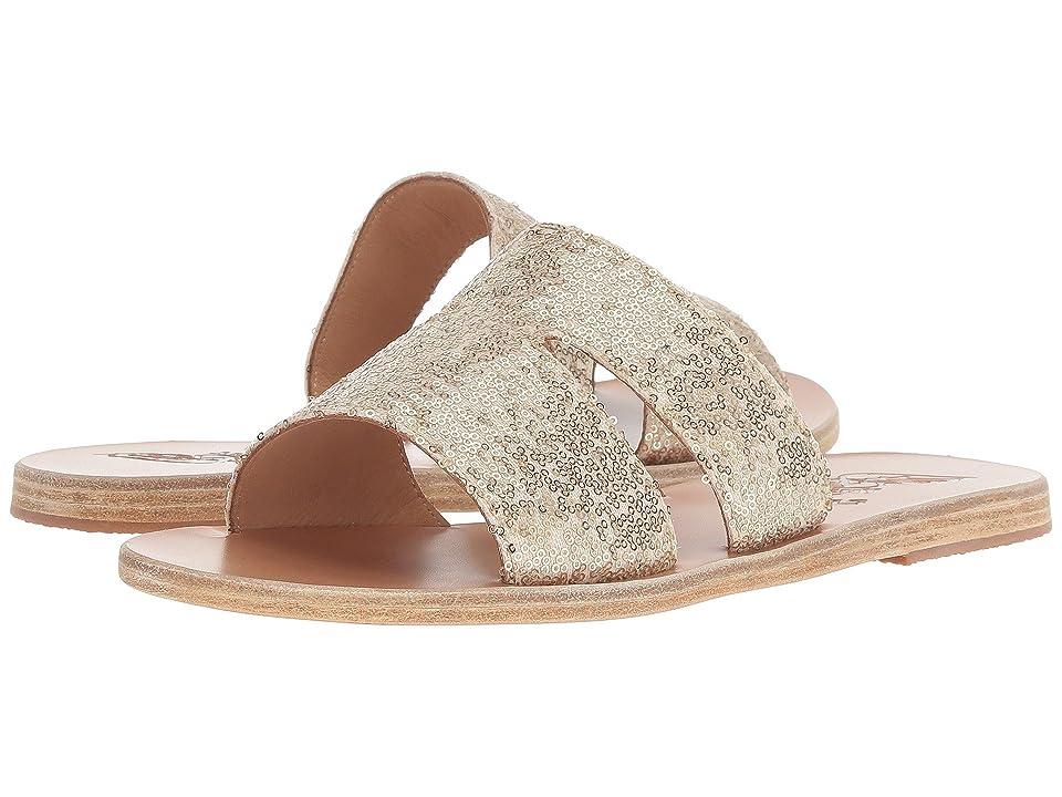 Ancient Greek Sandals Apteros (Platinum/Nude Micro Sequins) Women
