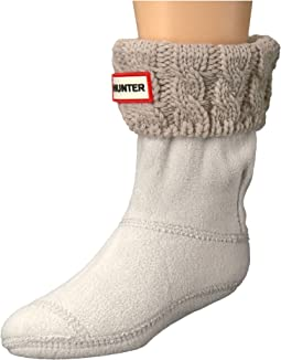 Hunter Kids Original Kids' Half-Cardigan 6 Stitch Cable Boot Socks (Toddler/Little Kid/Big Kid)