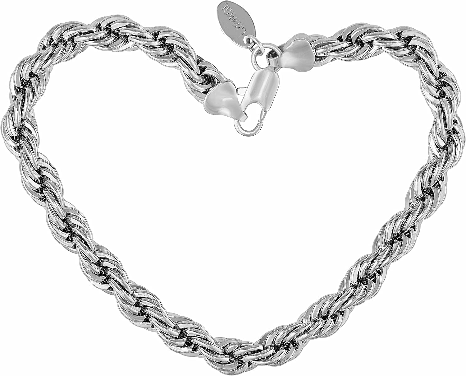 LIFETIME JEWELRY 7mm Regular discount Rope Chain Bracelet 24K Max 41% OFF and R for Women Men