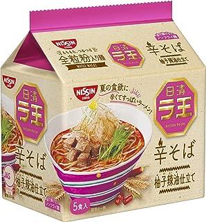 日清 ラ王 辛そば 5食パック 485g×6個入り (1ケース)