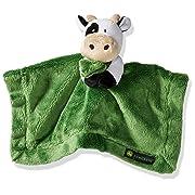 John Deere Baby Cuddle Snuggle Security Blanket Boy Girl Farm Animal Cow Pig Chick, GREEN