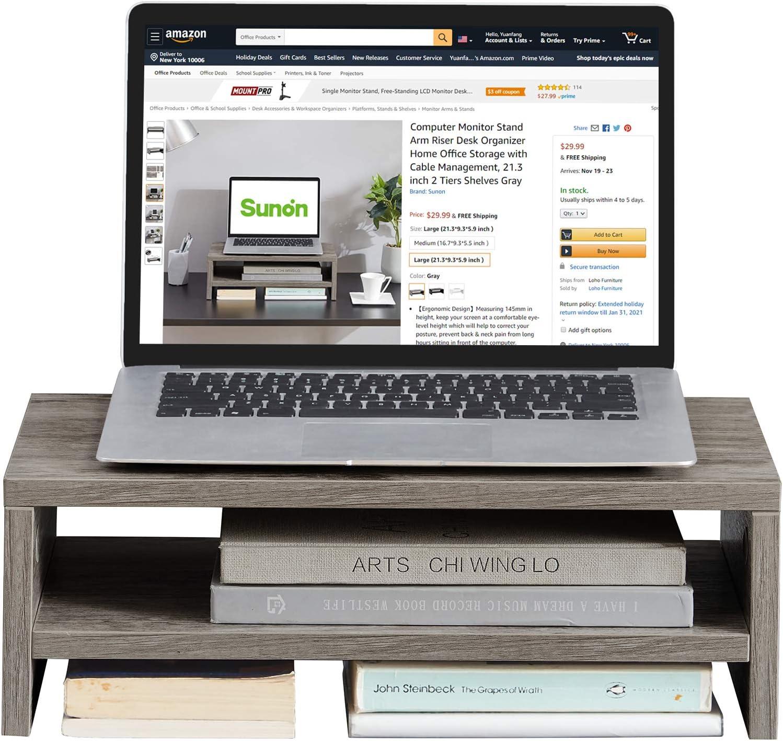 Computer Monitor Stand ご注文で当日配送 Riser Desk Organizer Home Office 定価 Storage