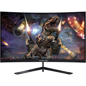 "Sceptre Curved 27"" 144Hz Gaming LED Monitor Frameless AMD Freesync Premium DisplayPort HDMI Build-in Speakers, Machine Black 2020 (C275B-144RN)"