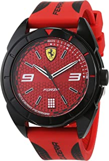 Scuderia Ferrari MEN'S RED DIAL RED SILICONE WATCH - 830517