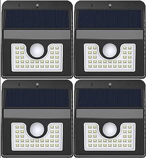 Vivii Solar Lights, Motion Sensor 30 LED Super Bright Security Lights Solar Outdoor Spotlight Flood Lighting for Backyard Garden Patio and Pathway, 4 PK
