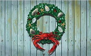 Citizen Pride Holiday Crab Wreath Door Mat by Joe Barsin, 30x18