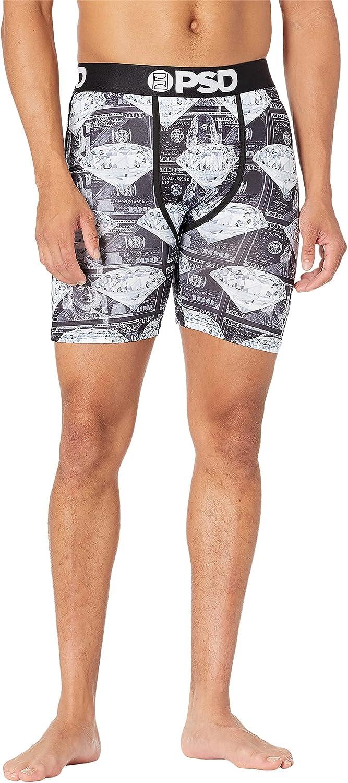 PSD Underwear Men's Printed Dark Money Diamonds Boxer Brief