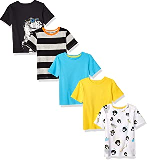 Spotted Zebra Camisetas de Manga Corta Niños, Pack de 5