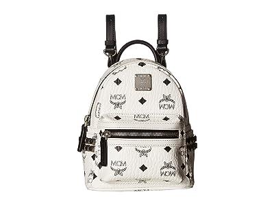 MCM Stark Side Stud X-Mini Backpack (White) Backpack Bags