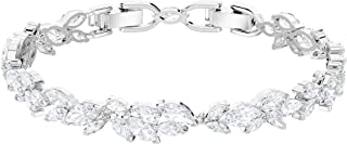 SWAROVSKI Women's Louison Bracelet, White, Rhodium plated