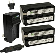Wasabi Power Battery (2-Pack) and Charger for Sony NP-F730, NP-F750, NP-F760 and NP-F770