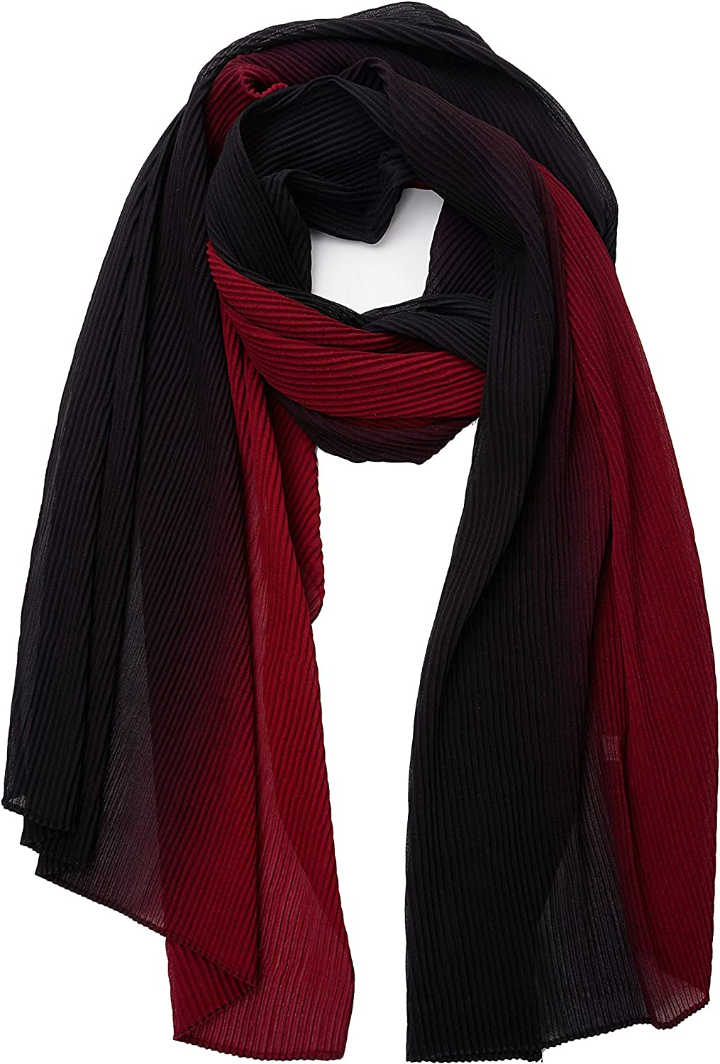YOUR SMILE Ladies/Women's Lightweight Color Block Sun proof Long Shawl Scarf For Spring Summer Fall Winter