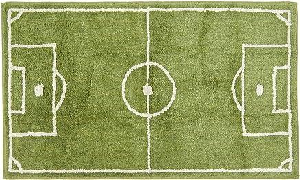Tapis Enfants Football Jouer Tapis pour Chambre denfant Terrain De Football en Vert Cr/ème Dimension:160x220 cm