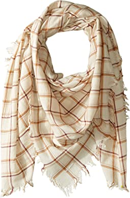 100% Wool Plaid Scarf