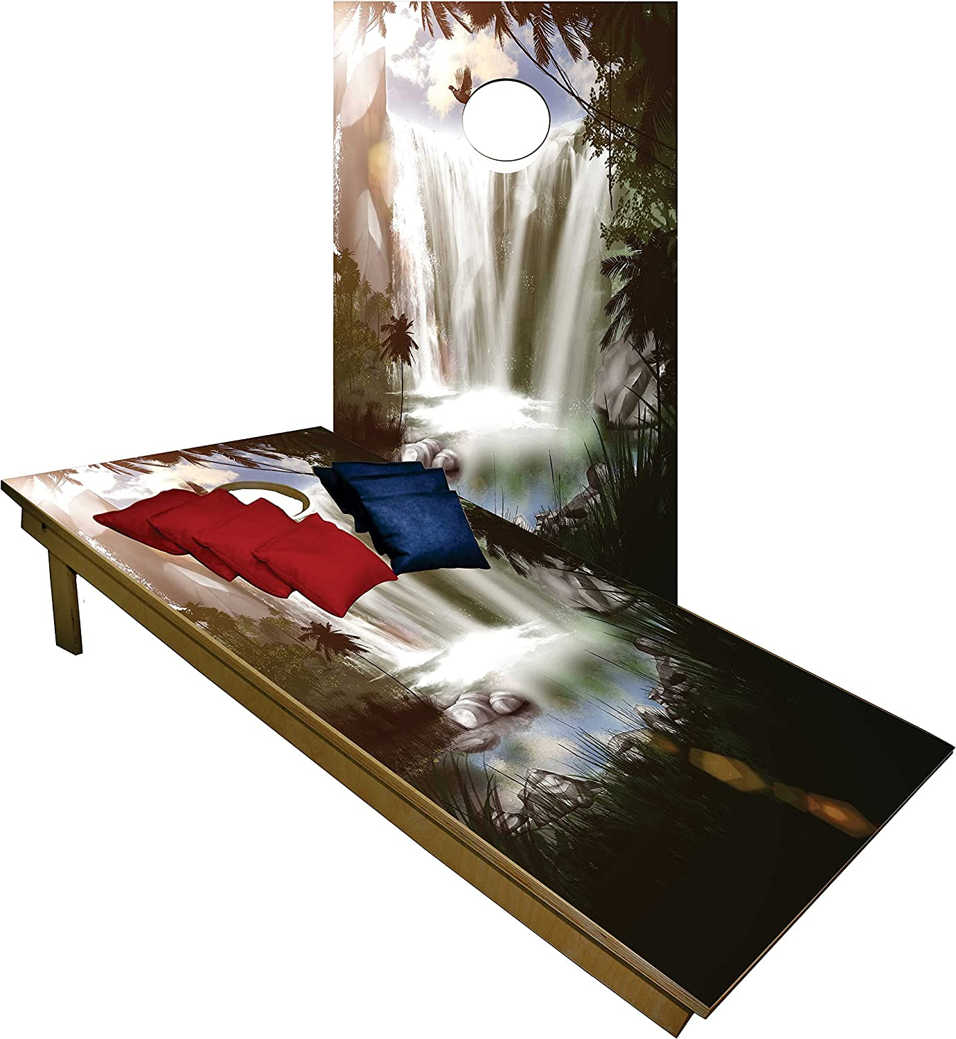 BackYardGamesUSA Cornhole Colorado Springs Mall Set -Waterfall The in Forrest Max 57% OFF Tailgate
