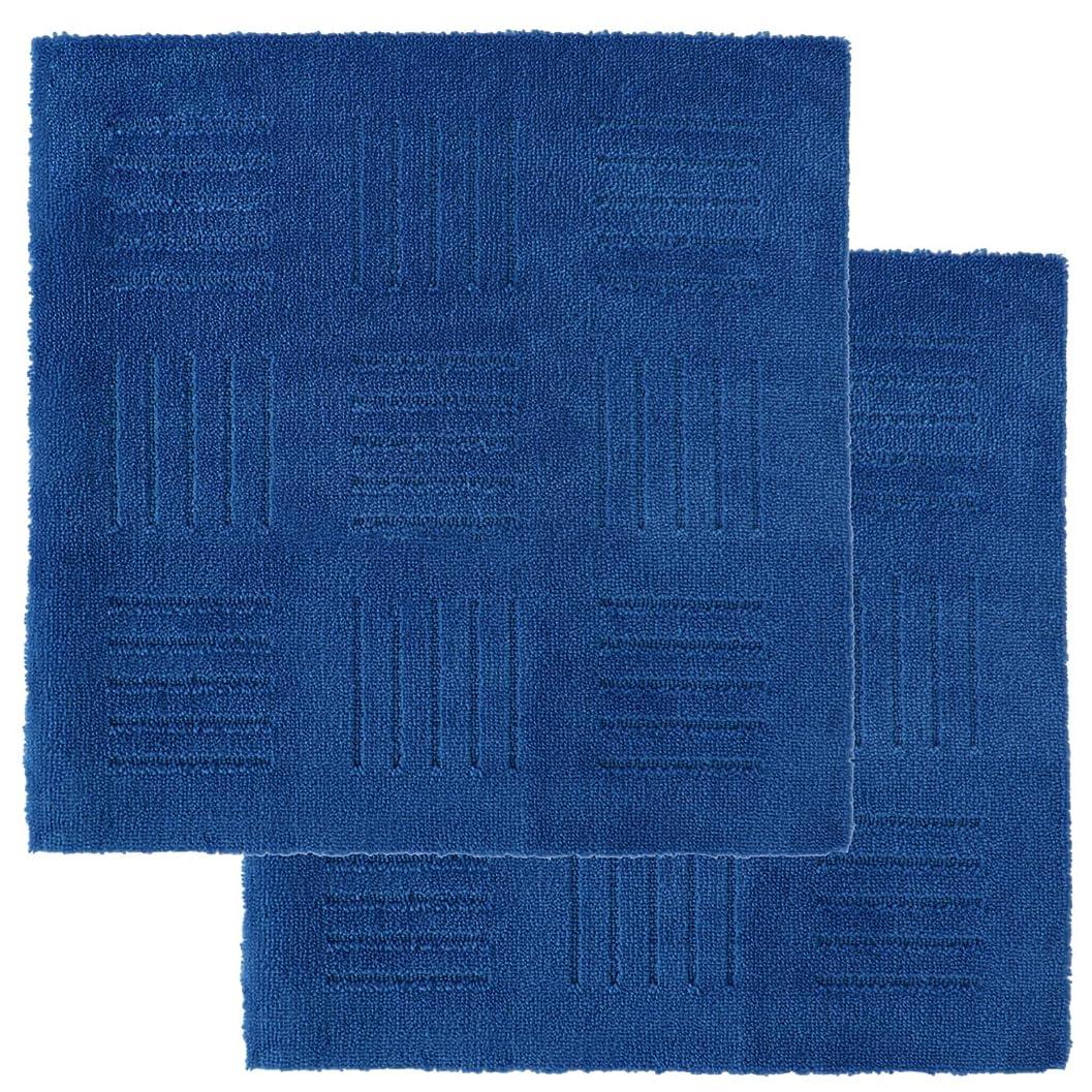 快適マルコポーロ飼いならすオカ(OKA) タイルカーペット ブルー 約60cm×60cm ジョイントキッチンマット ピタプラス ブリック ピタッと吸着!