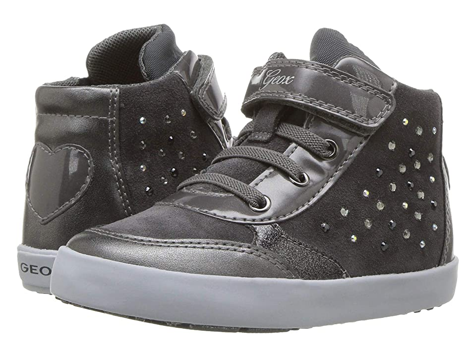 Geox Kids Kilwi Girl 34 (Toddler) (Dark Grey) Girl