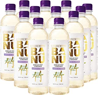 Sponsored Ad - Banu Lotus Blossom light vanilla tea flavored bamboo water contains silica to support healthy skin, hair, a...
