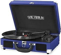 Victrola Vintage 3-Speed Bluetooth Suitcase Turntable with Speakers, Cobalt Blue