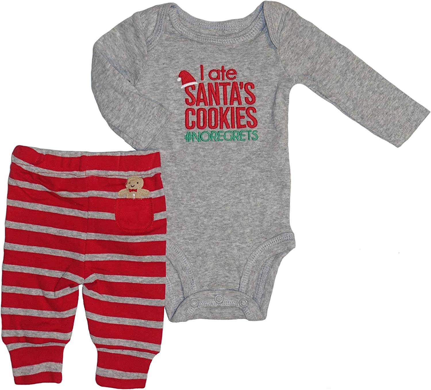 Just One You Baby Boys' Santa's Cookies 2pc Set Made by Carter's Red
