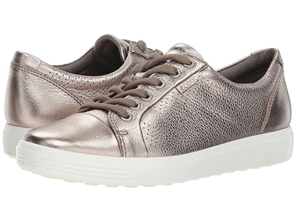 UPC 809704479286 product image for ECCO Soft 7 Perf Tie (Warm Grey Cow Leather) Women's  Shoes | upcitemdb.com