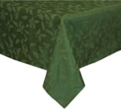 Lenox Holly Damask Tablecloth, 60 by 84-Inch Oblong/Rectangle, Green