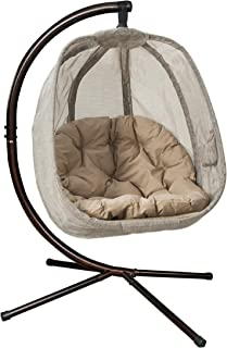 Flower House FHEC100-BRK Egg Chair, Bark