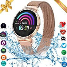UWINMO Smart Watch, Fitness Tracker, Smart Watch for Android Phones iOS, Activity Tracker, Fitness Tracker for Women, Android Watch for Women with Heart Rate Blood Pressure Sleep Monitor Touch Screen
