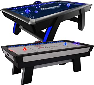 "Atomic 90"" or 7.5 ft LED Light UP Arcade Air Powered Hockey Tables - Includes Light UP Pucks and Pushers"