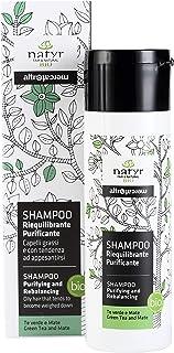Natyr Bio Pflege Shampoo mit grünem Tee und Mate 200 ml – hilft bei fettigem und..