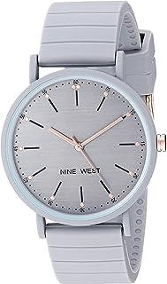 Nine West NW/2330GYGY - Reloj de pulsera para mujer, correa de silicona, color gris
