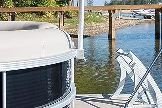 Pontoon Boat Flag Pole Clip Solid Aluminum 1