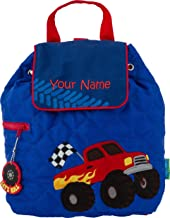 Personalized Stephen Joseph Monster Truck Quilted Backpack with Embroidered Name