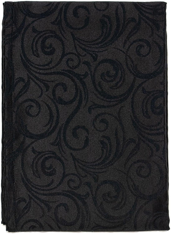 Luxus Luxus Luxus Schwarz Tischdecke – Anti Fleck Behandlung – Große Größen – ref. Lyon, schwarz, 59 x 137  (150 x 350cm) B0187GMN4O c11524
