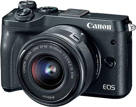 Canon EOS M6 (Silver) EF-M 0.591-1.772in f/3.5-6.3 is STM Kit de lente