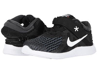 Nike Kids Revolution 4 FlyEase (Infant/Toddler) (Black/White/Anthracite/Total Crimson) Kids Shoes