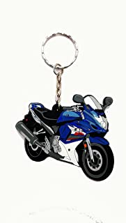 Rubber Motorcycle Key Holder Chain Fob Rings For Suzuki Katana 600 F GSX