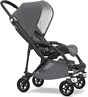 Bugaboo Bee5 Classic Complete Special-Edition Stroller, Black/Grey Mélange - Compact, Foldable Stroller for Travel and Urban Life