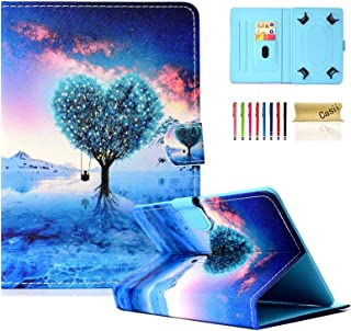 """Universal Case for 6.5-7.5 Inch Tablet, Casii Slim Protective Kickstand Flip Wallet Cover with Card Slots for All 6.5"""" - 7..."""