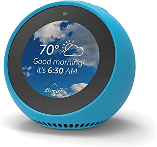 Amazon Echo Spot 対応 シリコンカバー 保護カバー ケース (バハマブルー)