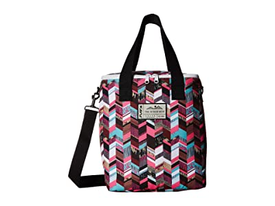 KAVU Takeout Tote (Sunset Blocks) Tote Handbags