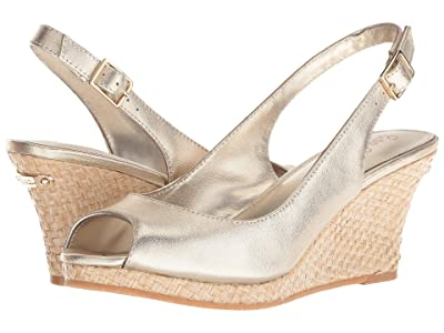 Lilly Pulitzer Gigi Wedge (Gold Metallic) Women