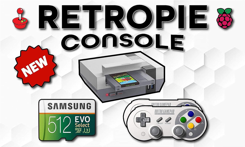 Max 48% OFF Retropie Console Kit - 512GB Purchase Raspberry Case Control Pi 8GB 4