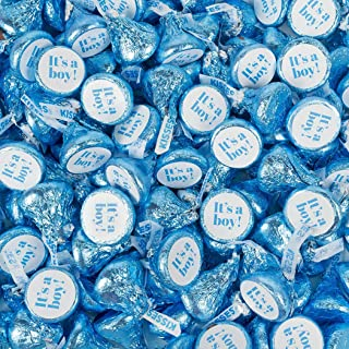 Boy Baby Shower Candy 1lb It's A Boy Blue Hershey's Kisses Candy (100 Count) - No Assembly Required