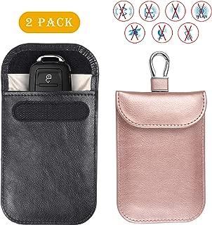 Teskyer Faraday Bag for Key Fob, RFID Signal Blocking Case, Premium Faraday Pouch Car Key Protector, Anti-Theft Pouch