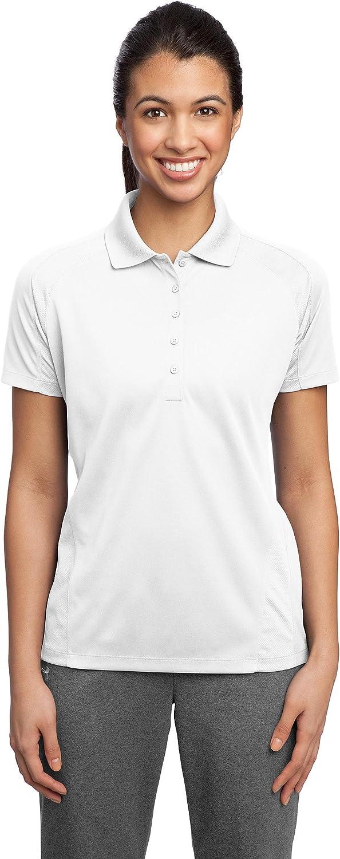 Sport-Tek Ladies Dri-Mesh Pro Polo> White L474
