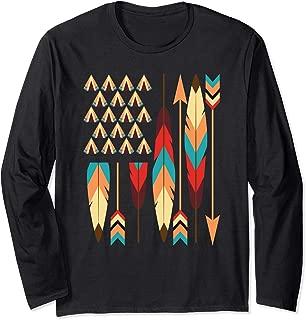Native American Pride USA Flag Long Sleeve T-Shirt