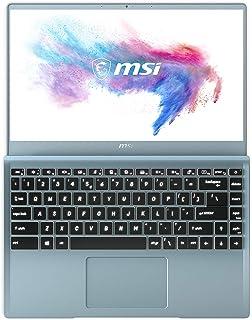 "MSI Modern 14 B10RBSW-064XES - Ordenador portátil Ultrafino de 14"" FullHD (Intel Core i7-10510U, 16GB RAM, 512GB SSD, Nvidia MX350-2GB, Sin sistema operativo) azul - Teclado QWERTY Español"